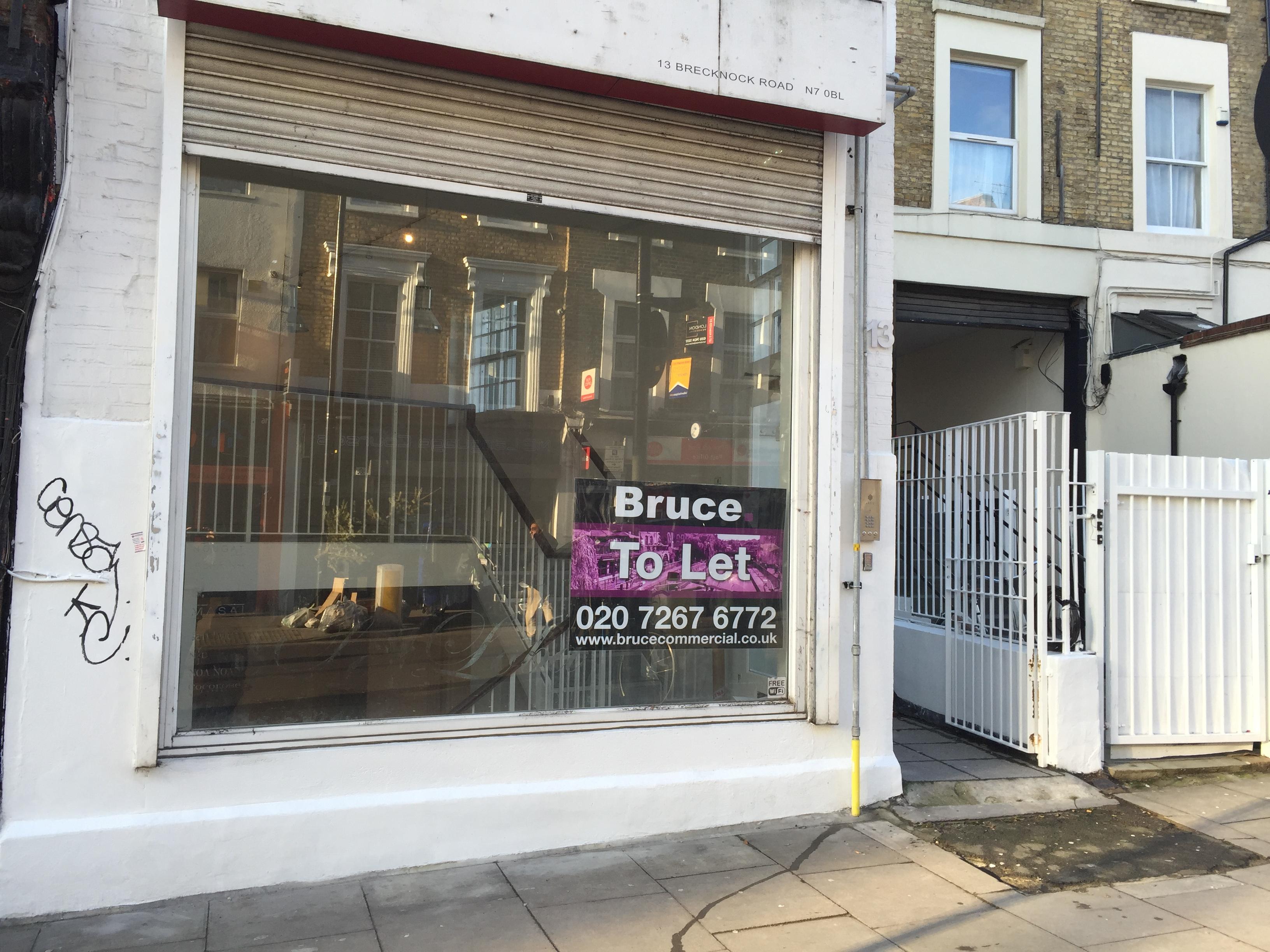 13 BRECKNOCK ROAD LONDON N7 0BL SHOP/OFFICE TO LET